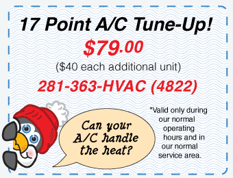 17 Point AC Tune-Up, $59.95