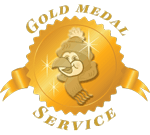 We make a Gold Medal Pledge to be the Best at HVAC Service, Repair, and Installation.
